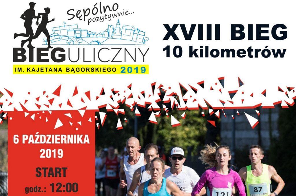 Plakat XVIII Biegu Ulicznego im. Kajetana Bągorskiego