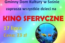 Kino sferyczne dla dzieci w GDK w Sośnie
