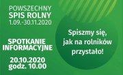 Spotkanie informacyjne - Powszechny Spis Rolny 2020 - Obowiązek każdego rolnika!