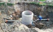 Postępy w przebudowie oczyszczalni ścieków w Wąwelnie