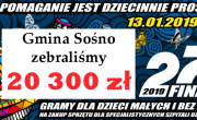 Wynik XXVII Finału Wielkiej Orkiestry Świątecznej Pomocy w Sośnie