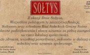 Życzenia dla Sołtysów i Rad Sołeckich
