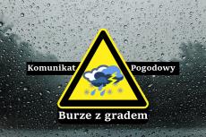 Ostrzeżenie meteorologiczne Nr 36/2021 - Burze z gradem