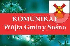 Komunikat Nr 5/2020 - zmiana organizacji pracy Urzędu Gminy Sośno