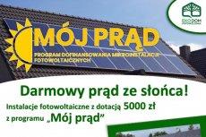 """Instalacje fotowoltaiczne z programu """"Mój Prąd"""""""
